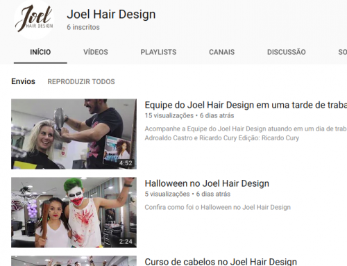 Joel Hair Design agora com Canal no YouTube