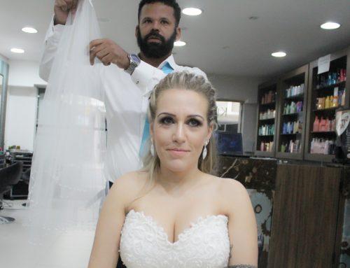 Fotos da produção da noiva, cabelo e make por Dario Brazz